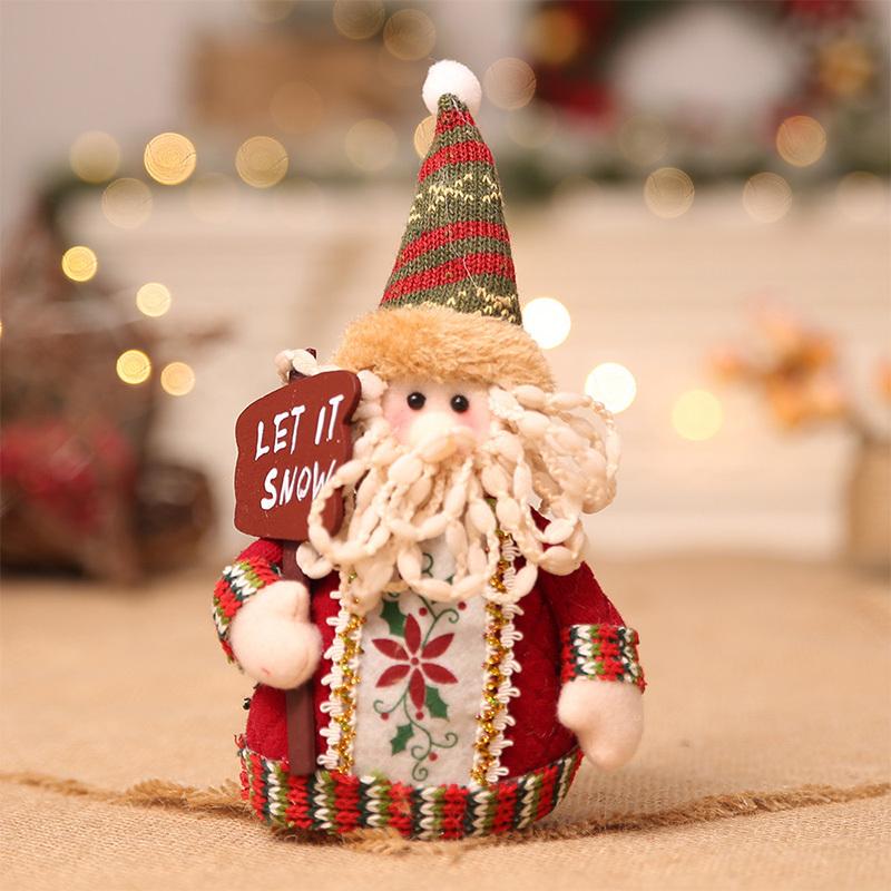 Christmas snowman ornaments Christmas Decorations for Home New Year scarf doll Santa Claus Desktop Decorations Navidad Natal (6)