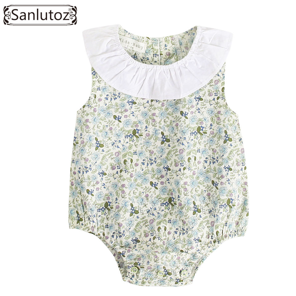 Sanlutoz Princesse Barboteuses b/éb/é Filles Coton Nouveau n/é Enfant Filles Fleur v/êtements