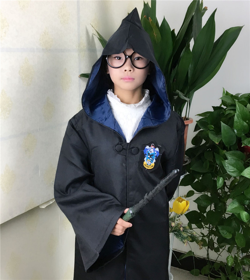 Kids Harry Potter Robe Cloak Cape Cosplay Costume Boy Girls Children Gryffindor school Uniform clothes Slytherin Hufflepuff Ravenclaw