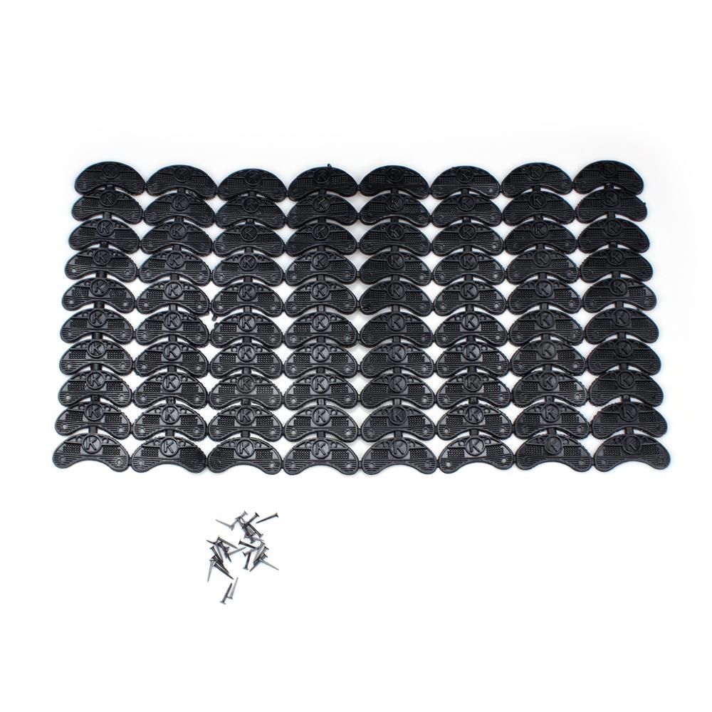 Set Of 40Pairs Shoes Boots Sole Heel Repair Pad Guard Plate For Boot Shoe Repair Kit Black 52.80 (1)