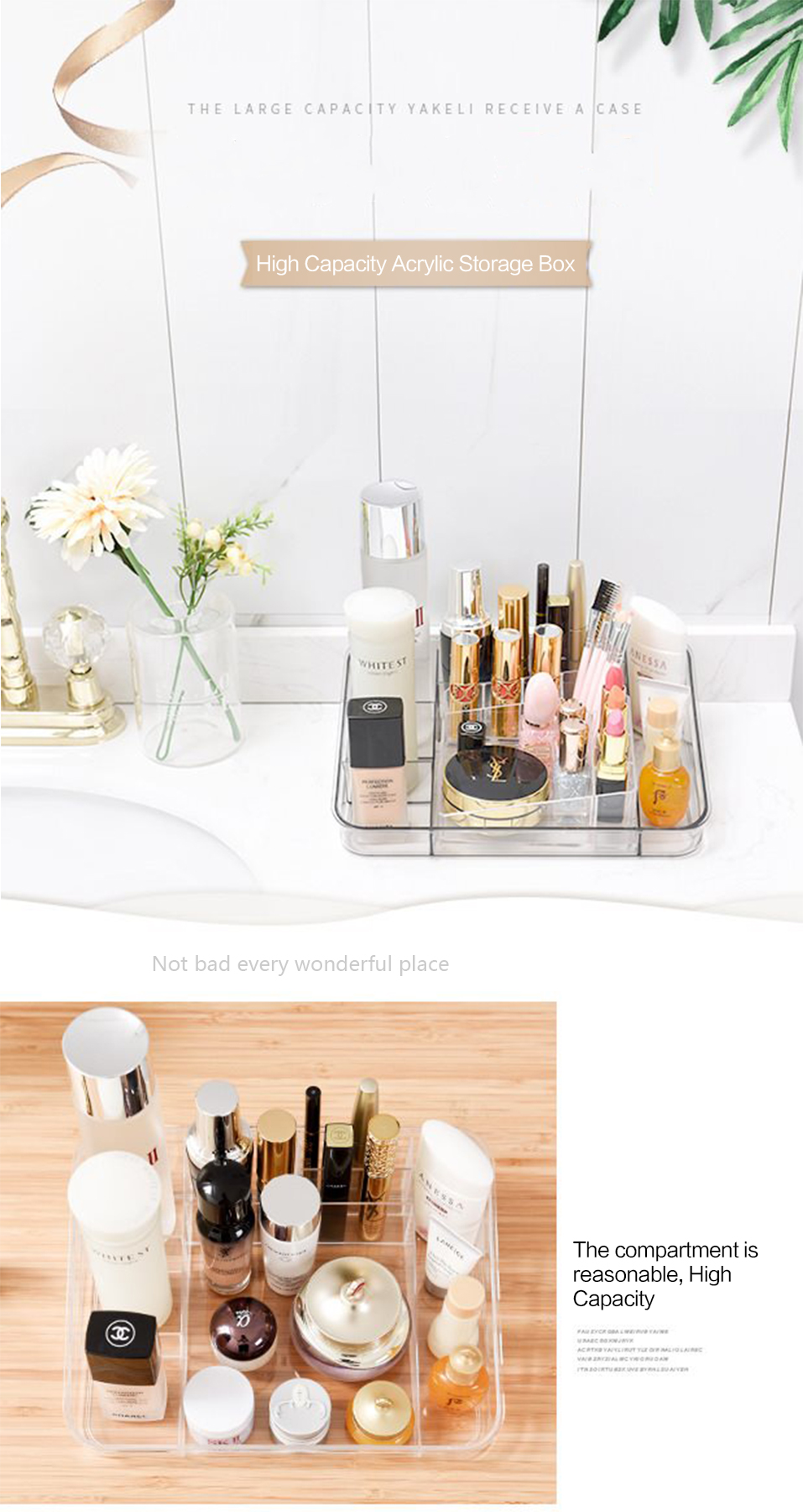 Storage Boxes Clear Acrylic Makeup Organizer Storage Box Case Lipstick Plastic Make Up Organizer For Brushes Jewelry Cosmetic _01