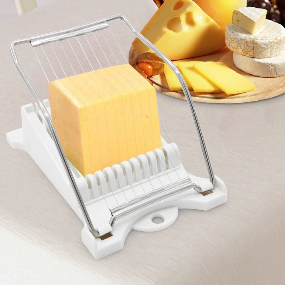 Luncheon Meat Slicer Cheese Boiled Egg Ham Cutter Fruit Slicer BPA Free 180°Rotatio (6)