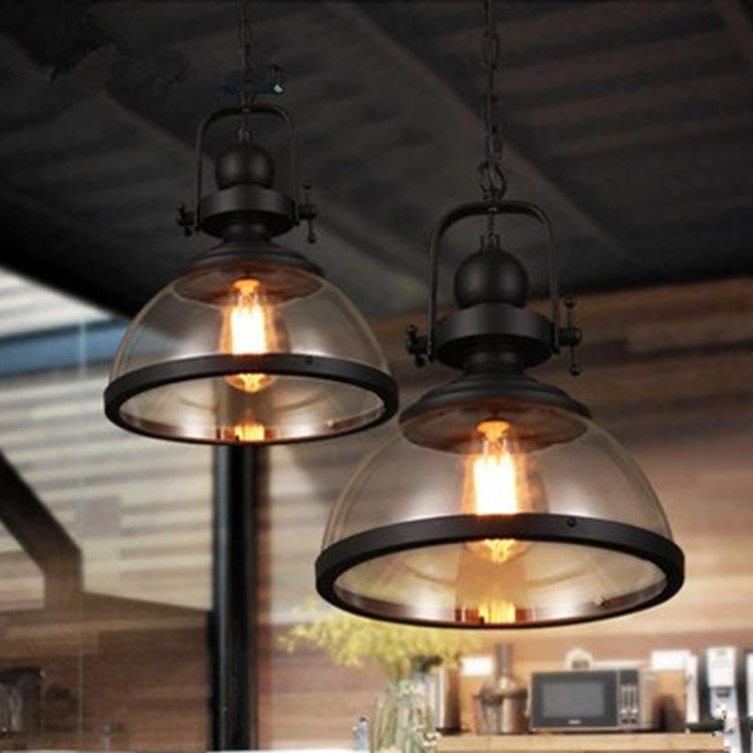 KAGU CULTURE Vintage Industrie Leuchter Pendelleuchte f/ür Bar Hotel Restaurant Cafeteria