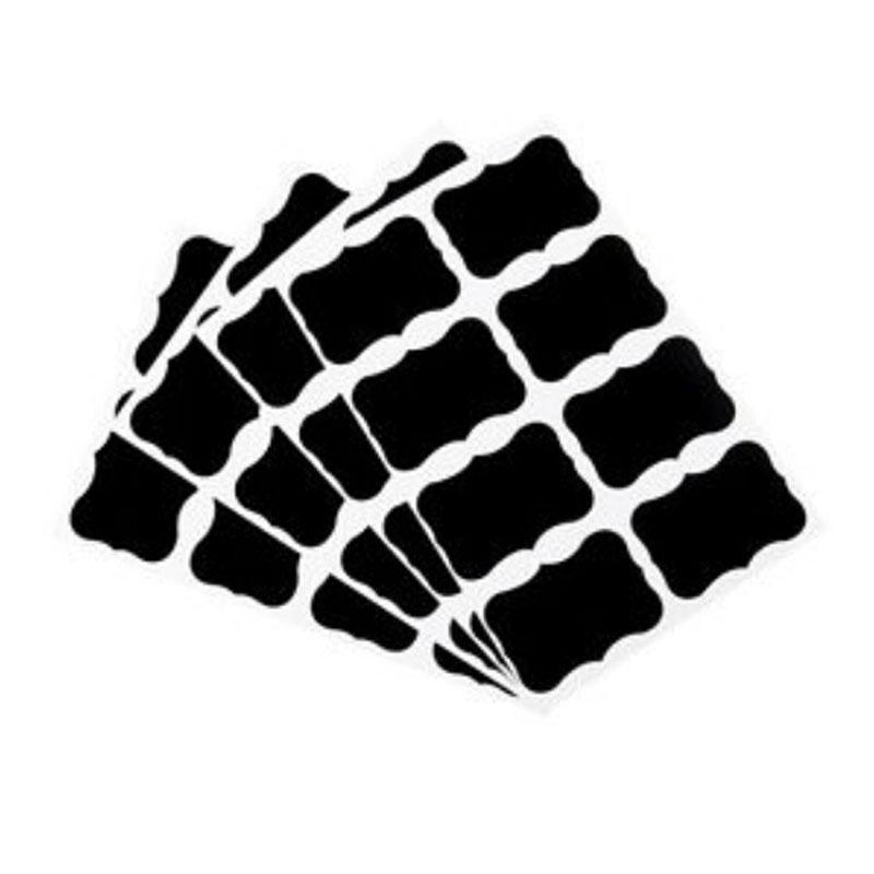 84 pezzi nero Etichette adesive da cucina a lavagna /· Miglior prodotto su .de