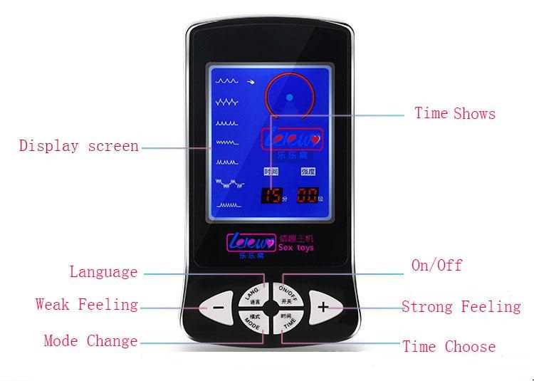 New Electric Shock Host, Power Therapy Box Machine , Electro Shock Machine Stimulation Massage Sex Toys Sex Products Accessory