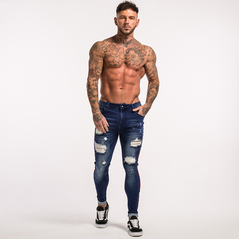 gingtto-mens-skinny-jeans-dark-blue-ripped-repaired-red-stripe-jeans-streetwear-zm21-9