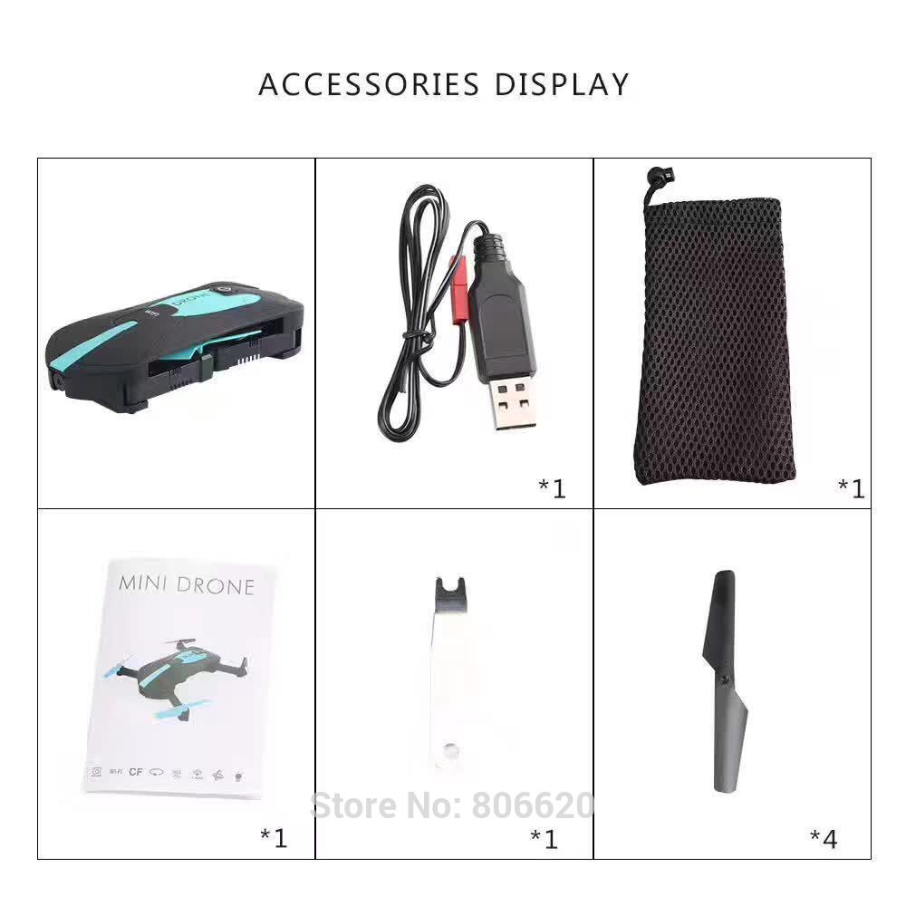Low Cost HD Wifi Real-time Aerial Photography Foldable Toy Drone with No Head Mode & Mobile Phone & Tablet App Gravity Control_8