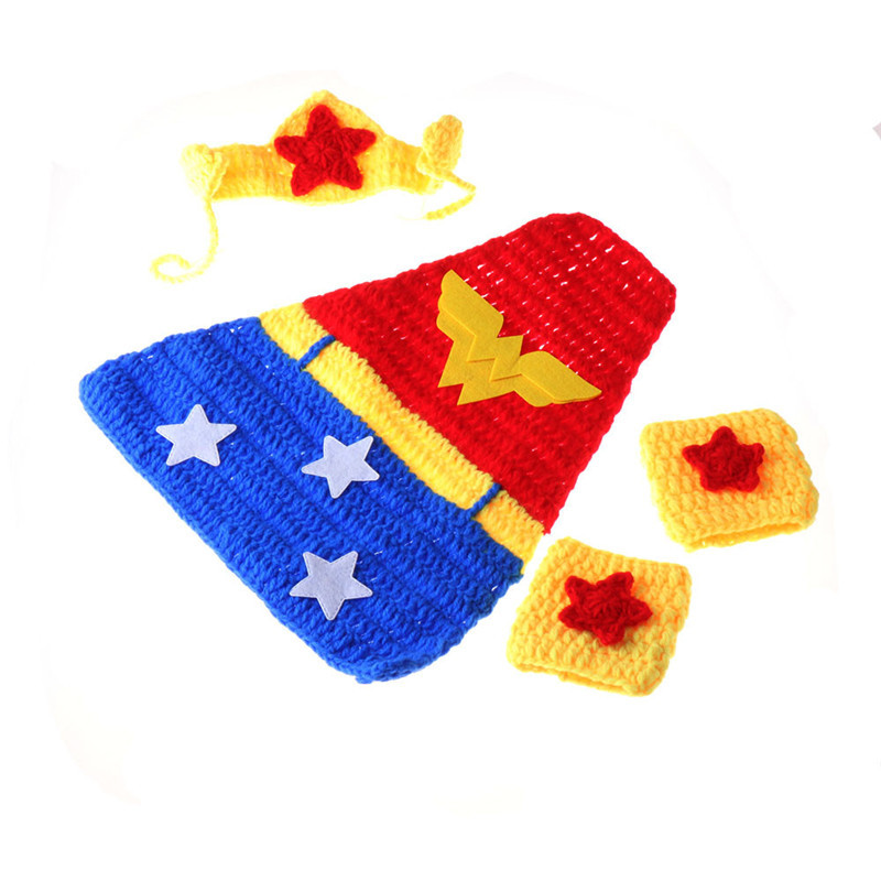Newborn Baby Girl Boy Crochet Knit Costume Photo Photography Prop Hats Pants Outfits
