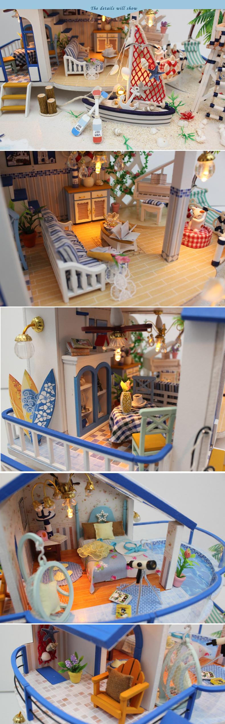 DIY DollHouse Villa Model Miniature With Furnitures Wooden Doll House  Building Toys Gift Legend Of Blue Ocean 13844 Dolls House Baby Folding  Barbie