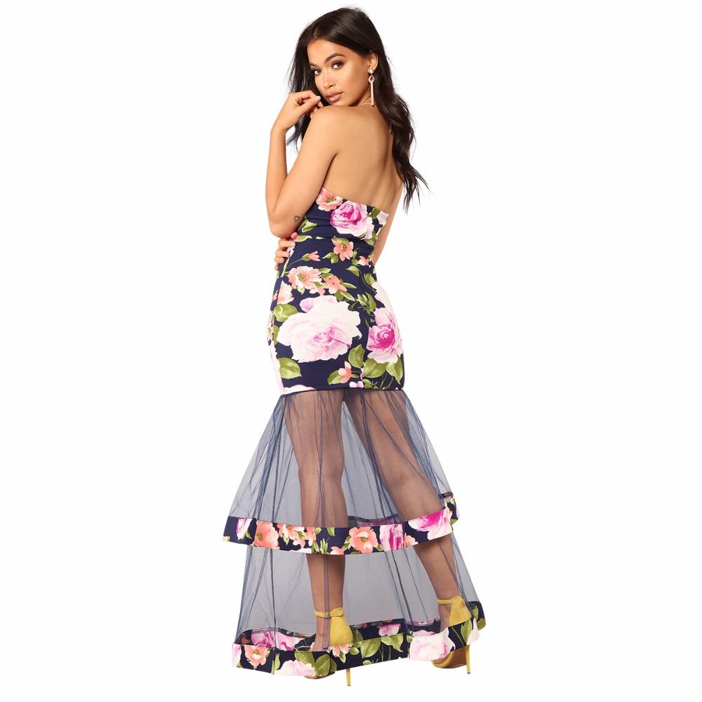 sommer weibliche pfingstrose print tube top kleid mode sexy kleid frauen  spitze mesh garn nähen partei perspektive bh
