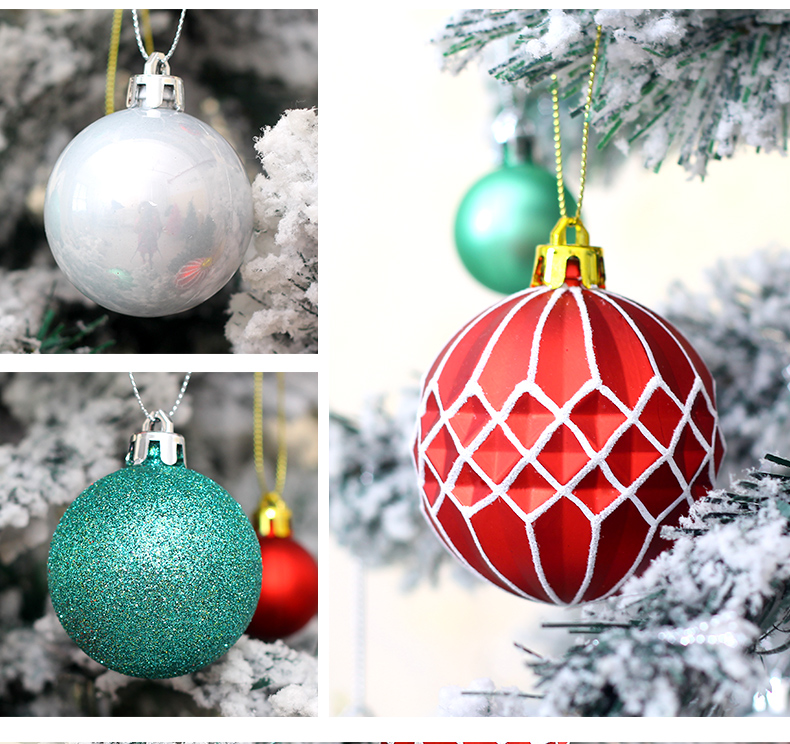 06 inhoo 50pcs Christmas ball Decorations for home Christmas Tree Decoration Ball Ornaments Pendant Accessories Xmas Gifts 2019 new