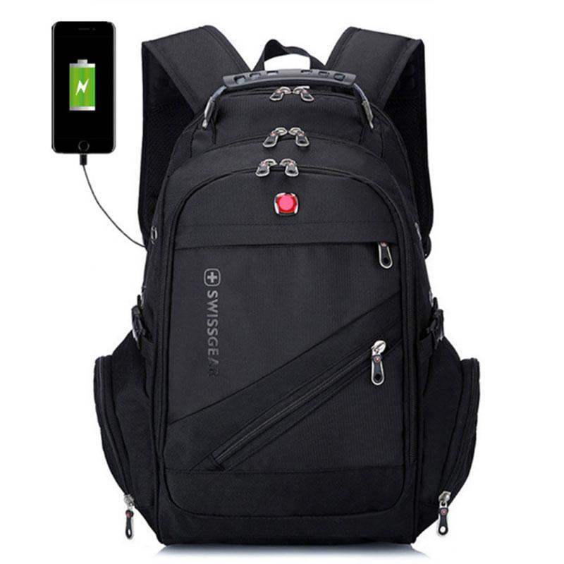 Hommes Swissgear grande capacité sac à dos ordinateur portable Sacs College Tide Casual Sac D/'école