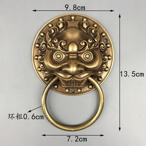 HU Poignee a tirer en bronze Design antique de tete de lion