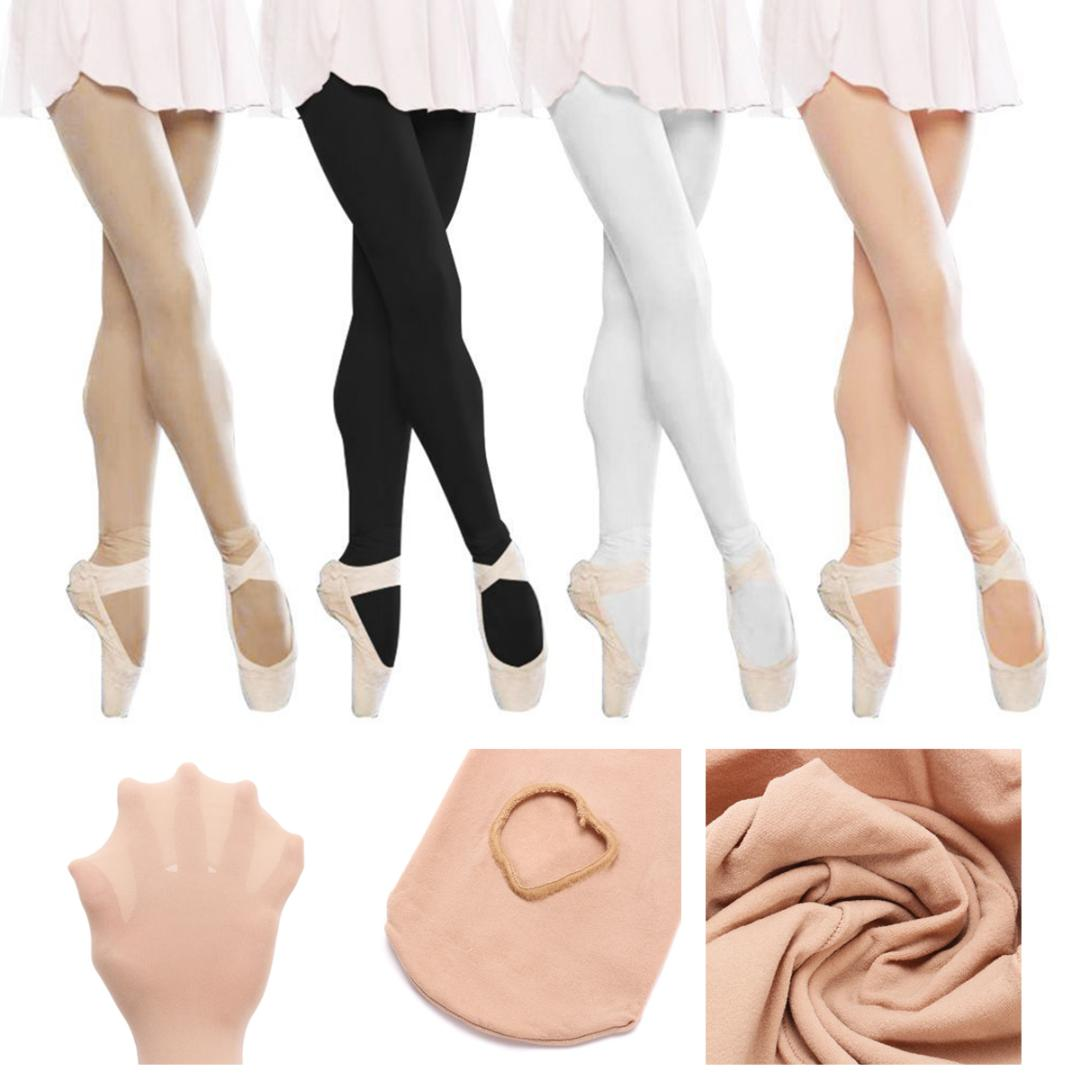 Ballet Stocking Soft Gymnastic Pantyhose Girls Footed Hole Dance Tights Socks