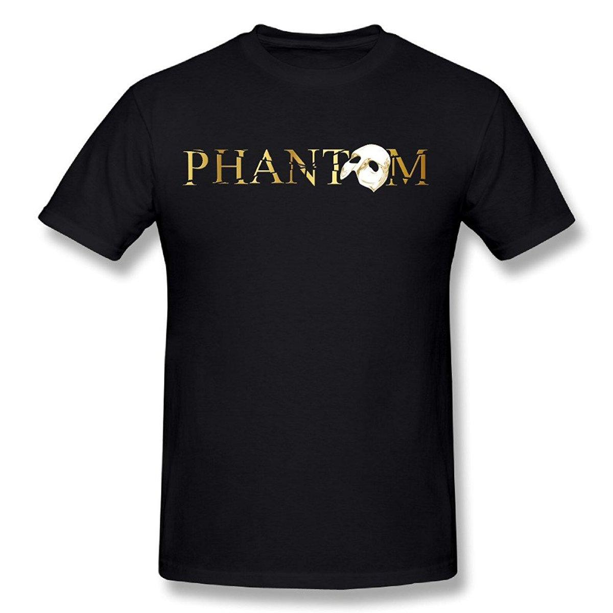 O Fantasma da Ópera Broadway Show Musical dos homens T-Shirt Branco Tamanho S Para 3XL T Camisa Casual Manga Curta Luz TOP TEE