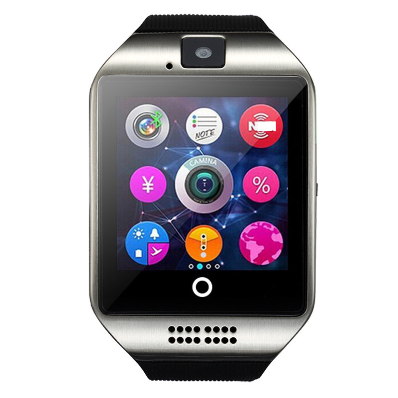 Модные Спортивные Часы Q18 Bluetooth Smart Watch Поддержка SIM / TF Карта Камеры Android Смарт Часы PK a1 dz09