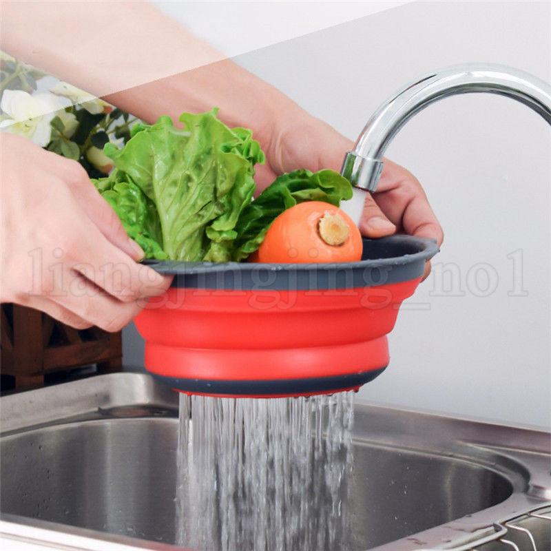 / set pliant pliante en silicone passoire passoire cuisine fruits filtre panier fruits légume passoire cuisine bol de rangement FFA1863