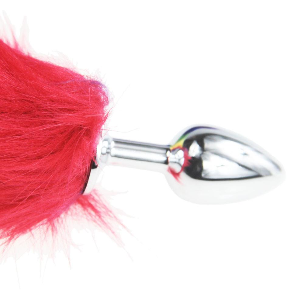 hh080 rainbow fox tail anal plugs (29)