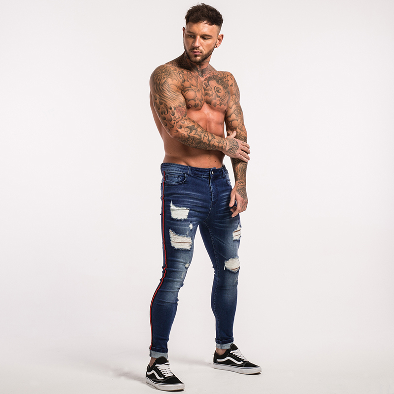 gingtto-mens-skinny-jeans-dark-blue-ripped-repaired-red-stripe-jeans-streetwear-zm21-11