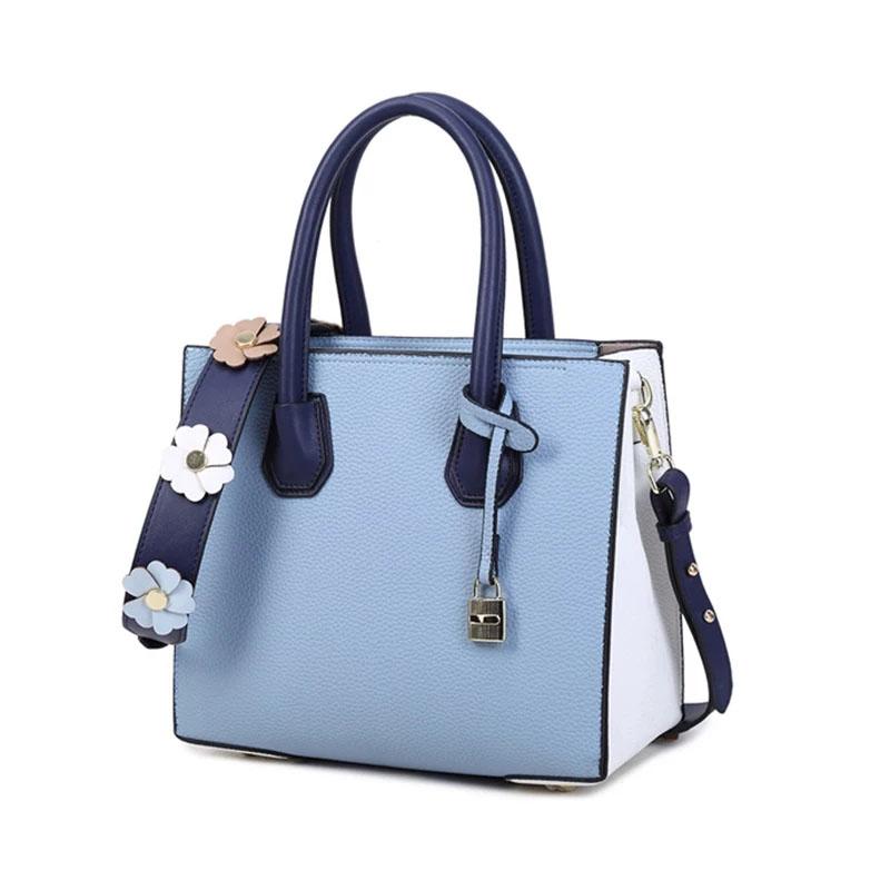 2018 new style handbag style wide shoulder strap bag woman