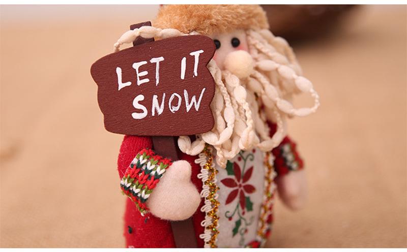 Christmas snowman ornaments Christmas Decorations for Home New Year scarf doll Santa Claus Desktop Decorations Navidad Natal (14)