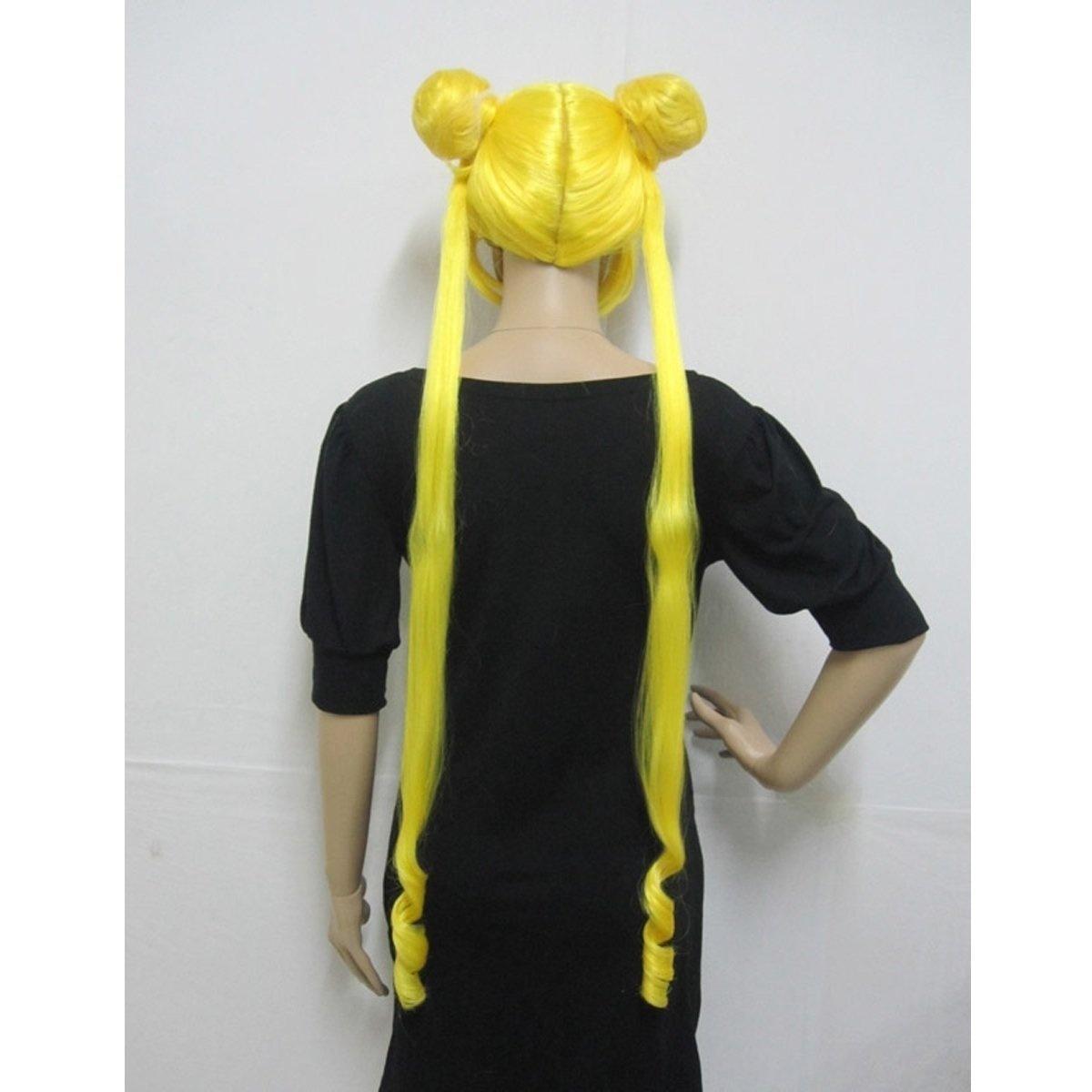 Traje de Cosplay de Anime Party Peluca llena para Sailor Moon Serena Tsukino Long