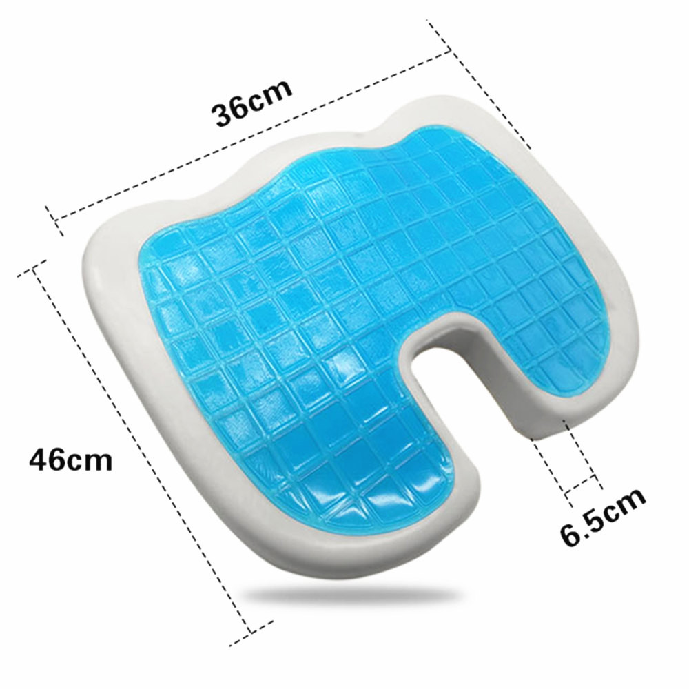 2018 New Orthopedic Gel Foam Seat Pad Cushion Chair Back Support Comfort Enhanced #NE905