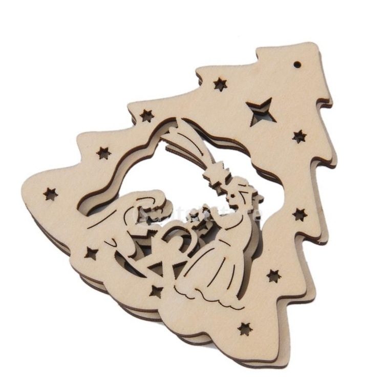 Urijk Fashion Gift Christmas Wooden Carvings Window Accessories Snow Shape Home Christmas Decorations Navidad 2018 New Y18102609