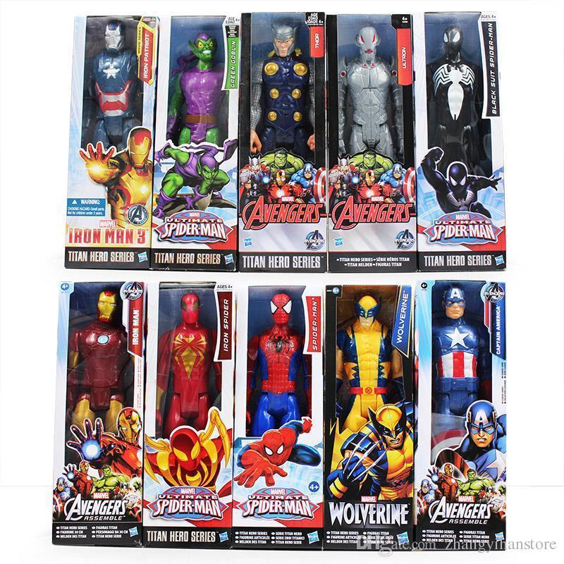 "12/"" Marvel Titan Hero Series Black Suit Spider-Man Venom Action Figure Toys Gift"