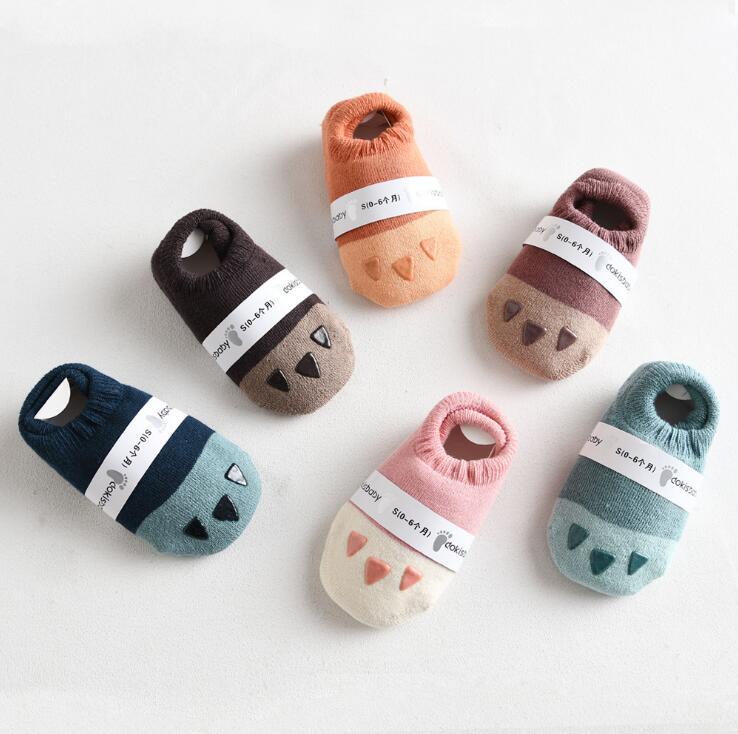 dkDaKanl 5 Pack Cotton Baby Thick Warm Winter Socks Unisex Newborn Toddler Non-slip Socks Cartoon Design,0-6M