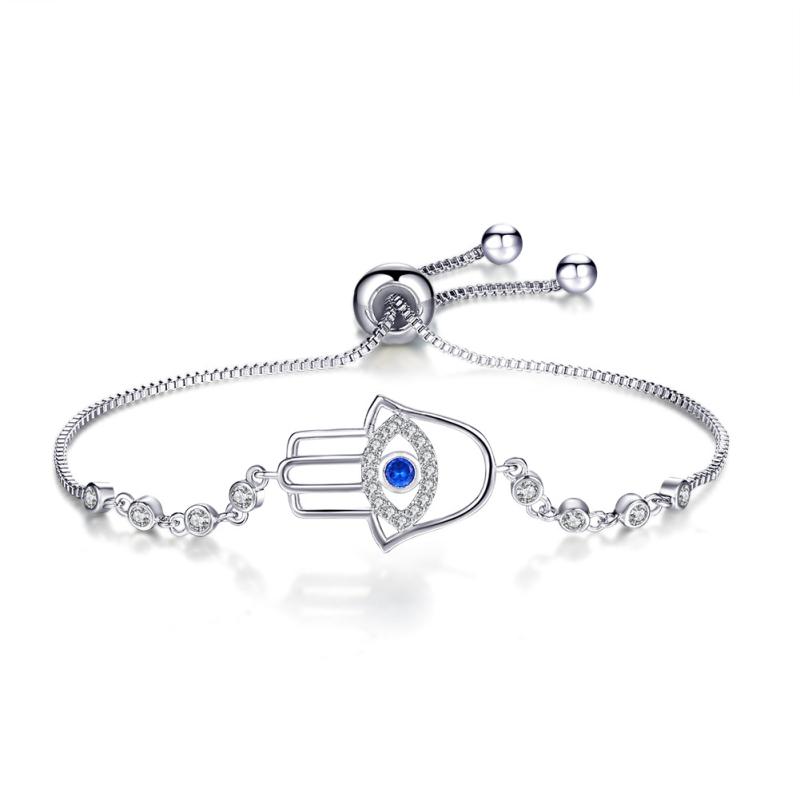 """6 Mm Rond Zircone cubique Femmes Blanc Or Plaqué Zircon Tennis Bracelet Cadeau de Noël 7/"""""""