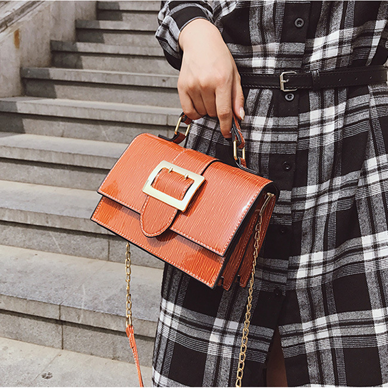Fashion Small Shoulder Bags Women Chain Plaid Soft Surface Summer Package PU Leather Ladies handbag and evening bags Popular New