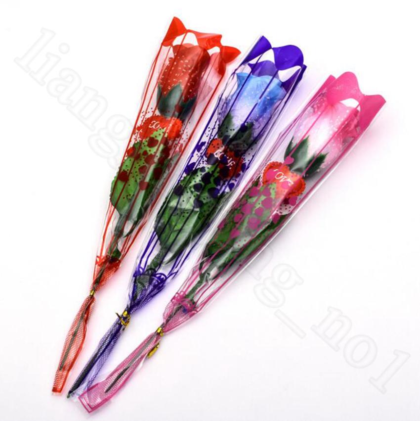 LED Light Up Rose Flor Incandescer Dia Dos Namorados Decoração de Casamento Fontes Falso Fontes Do Partido Decorações OOA5855