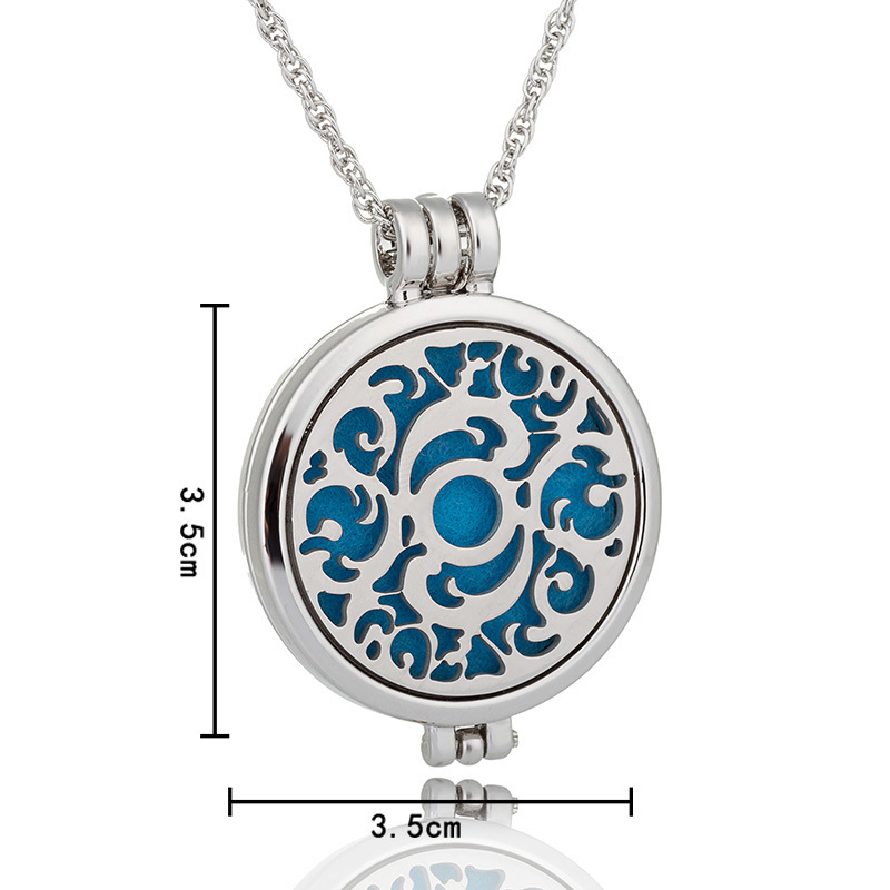 NEW Perfume Disffuser Luminous Dolphins Necklaces Aromatherapy Locket Essential Oil Diffuser Necklaces Locket Cage Pendant Necklace 2091