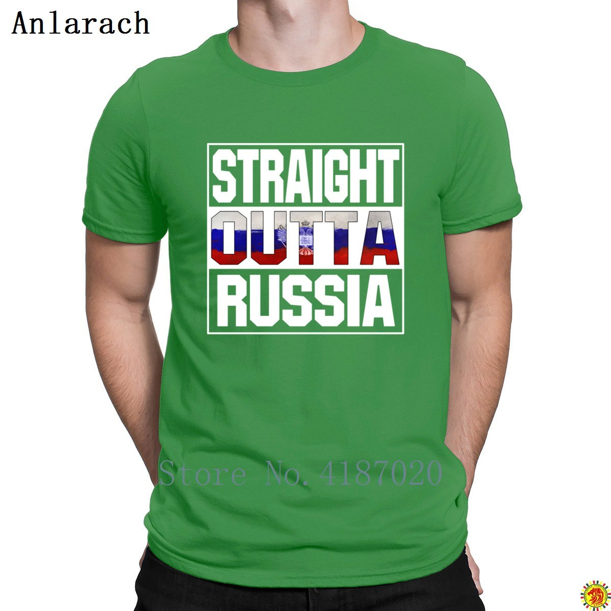 Düz Outta Rusya Lover Tişört Hediye Eğilim 2018 En İyi erkek Tshirt Pamuk Tasarımcı Eğlenceli Anlarach HipHop