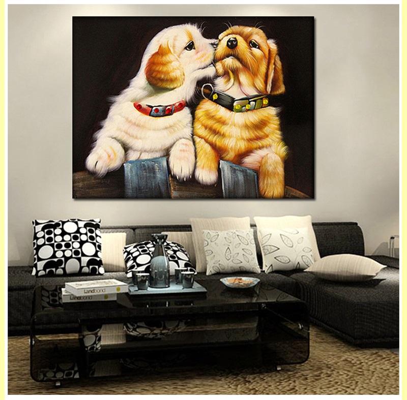 Pintura De Diamante 5D Art perro foto de familia decoración de mosaico Cuadrado Cristal Hecho A Mano