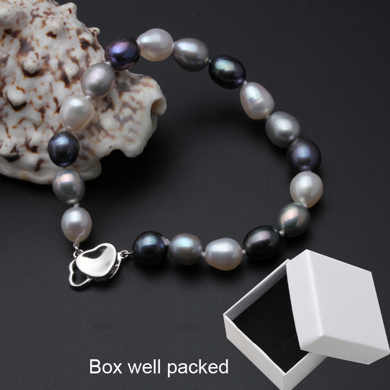 Real Beautiful freshwater pearl bracelet women,wedding cultured charm knot bracelet 925 silver jewlery girl birthday gift box S18101507