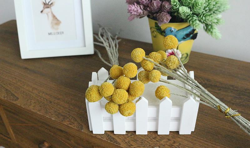 Flone Golden Ball Flower Branch Eternal Flowers Dried Flowers DIY Flower Bouquet Wedding Aceesories Home Party Gift Decor Art (3)