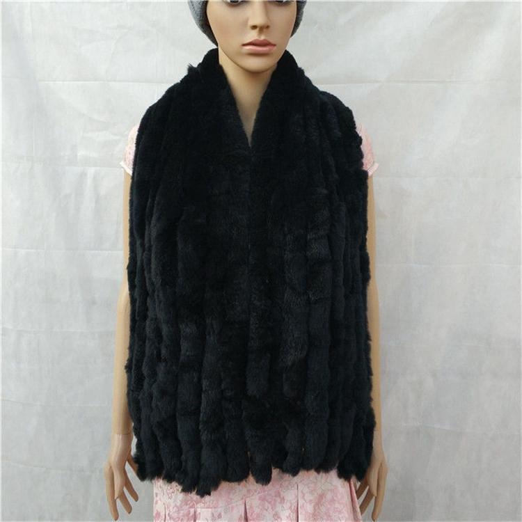 knitted rex rabbit fur scarf for women winter (8)