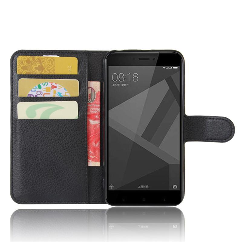 For Xiomi Xiaomi Redmi 4X Case 5.0 inch Wallet PU Leather Cover Phone Case For Xiaomi Redmi 4X 4 X Case Silicone Flip Back Bag (16)