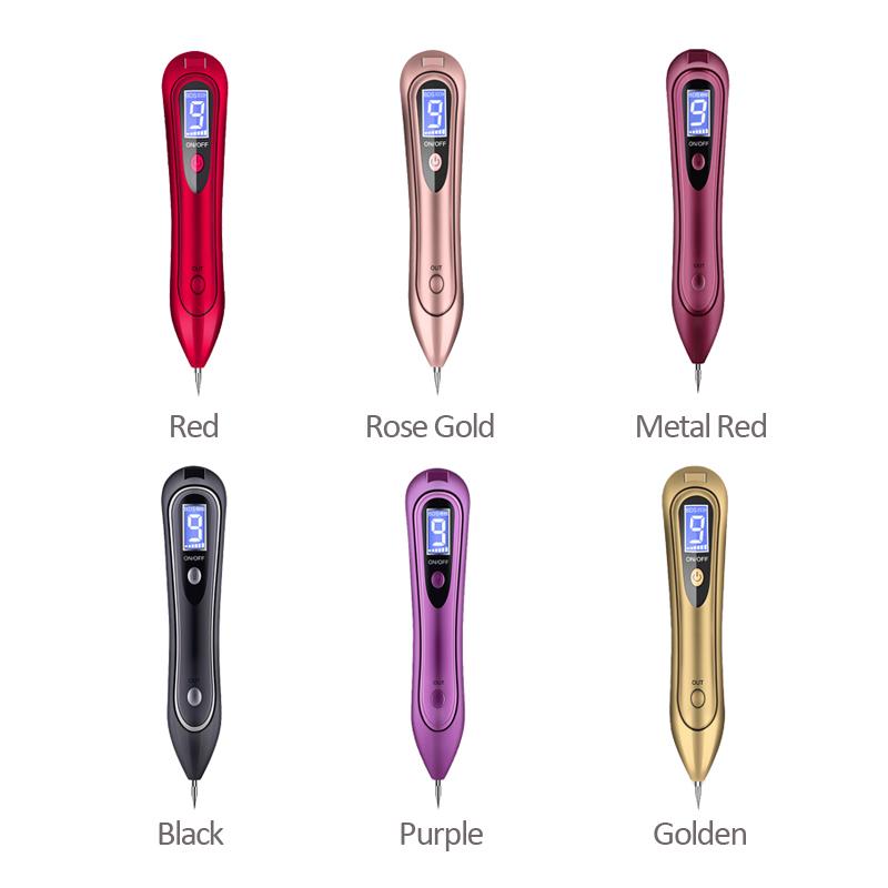 Láser LCD Pluma de Plasma Topo de Tatuaje Mole Facial Belleza Peca Etiqueta Verruga Punto Mancha Oscura Punto de Eliminación para la Cara Máquina de cuidado de la piel