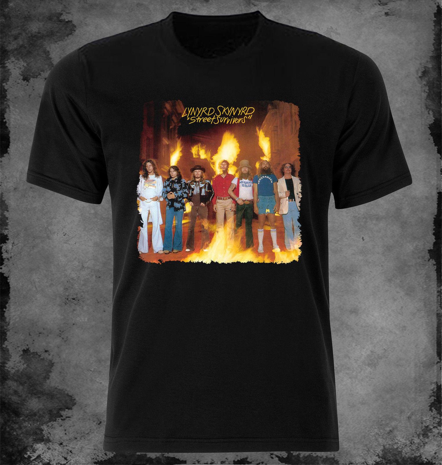 Official Lynyrd Skynyrd Crossed Guitars Unisex T-Shirt Nuthin Fancy Band Wings