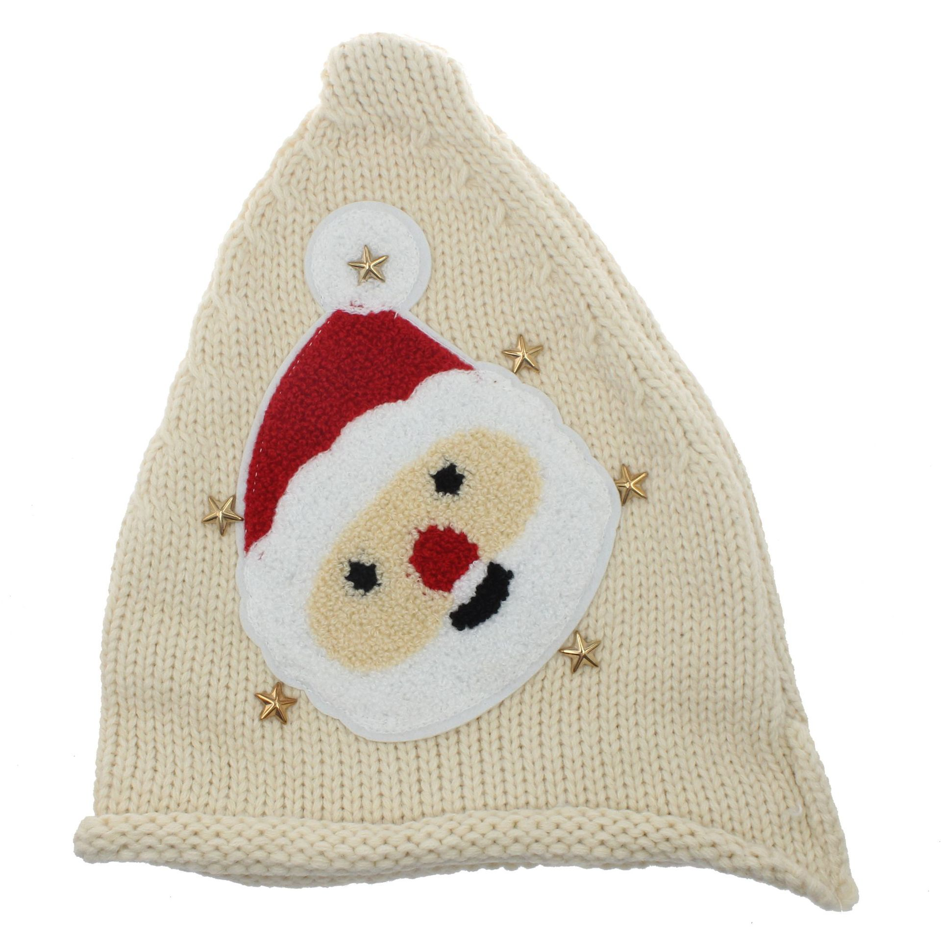 Kids Christmas Knitted Caps Baby Santa Claus Knitting Hats Infant Knitted Cap Kids Xmas Hat Winter Beanies Party Hats DH0125
