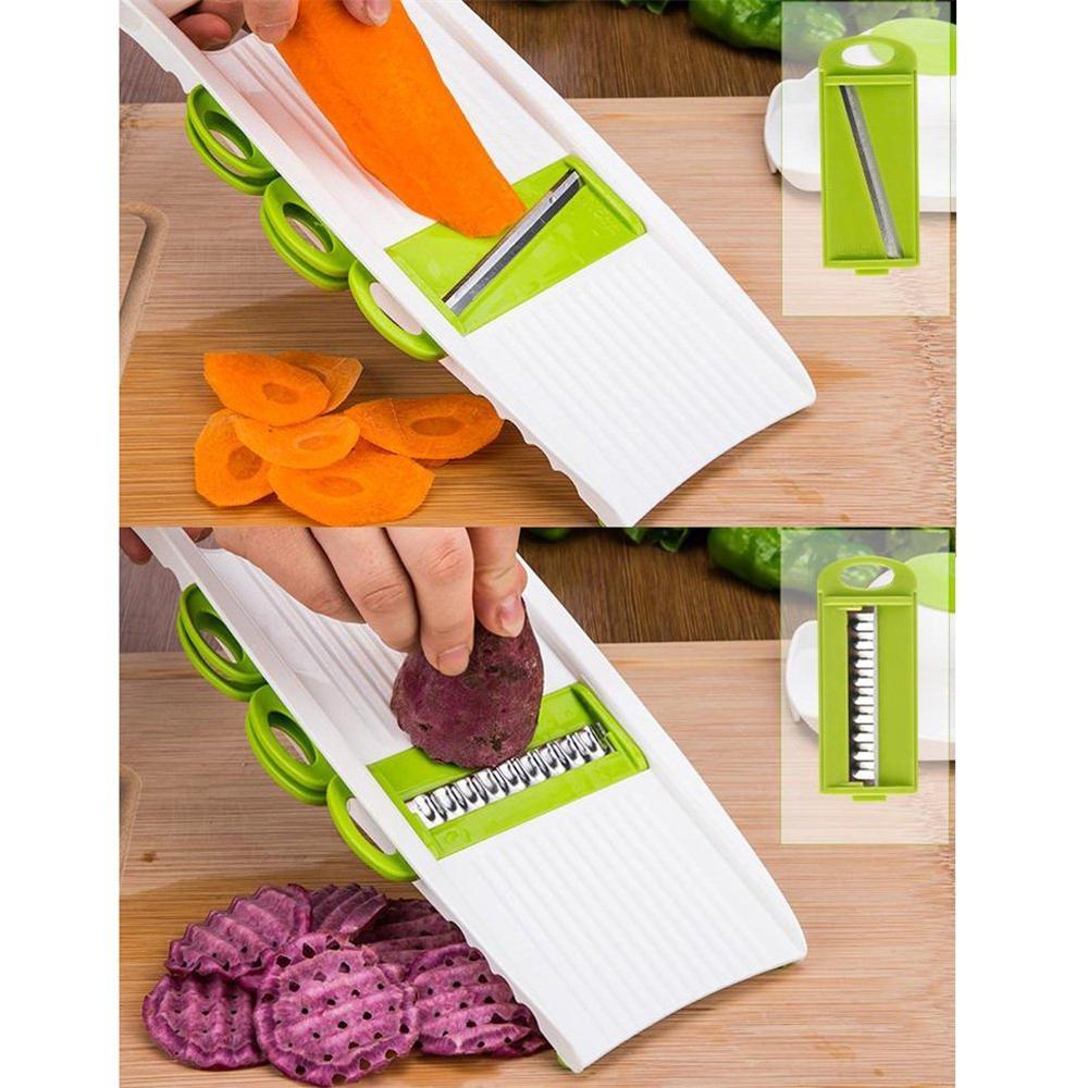 Mandoline Peeler Grater Vegetables Cutter tools with 5 Blade Carrot Grater Onion Vegetable Slicer Kitchen Accessories11