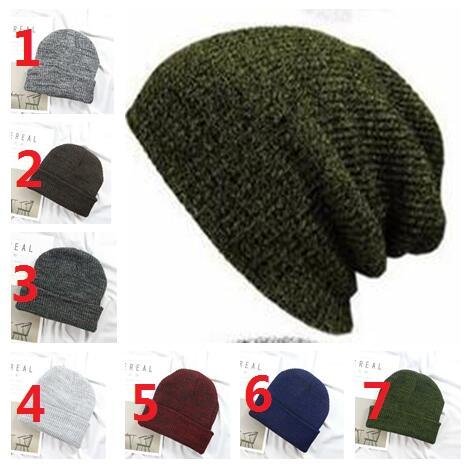 2018 Hot sales Winter Casual Cotton Knit Hats For Women Men Baggy Beanie Hat Crochet Slouchy Oversized Ski Cap Warm