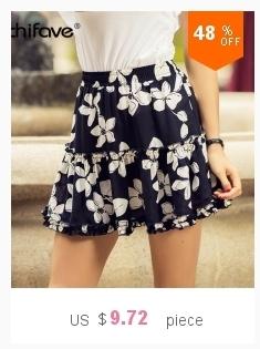 55eb55fcd6c2 2019 2018 Women 100% Cotton Mini Skirt Pockets Elastic Waist Spring ...