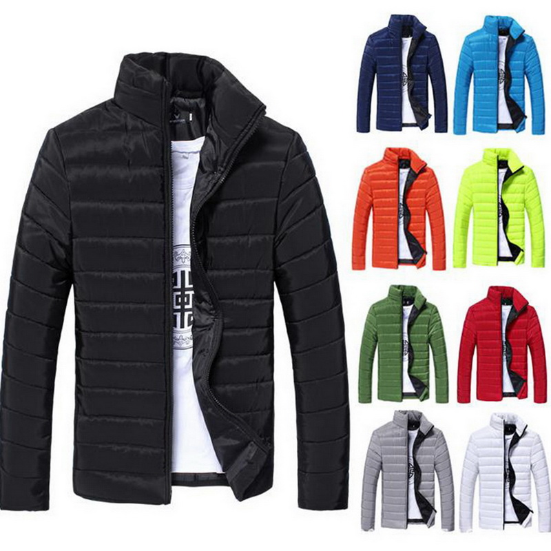 wholesale Fashion Solid Windbreaker Mens Jackets 2018 Men Winter Jacket And Coat Warm Padded Thicken Parkas Jackets For Male