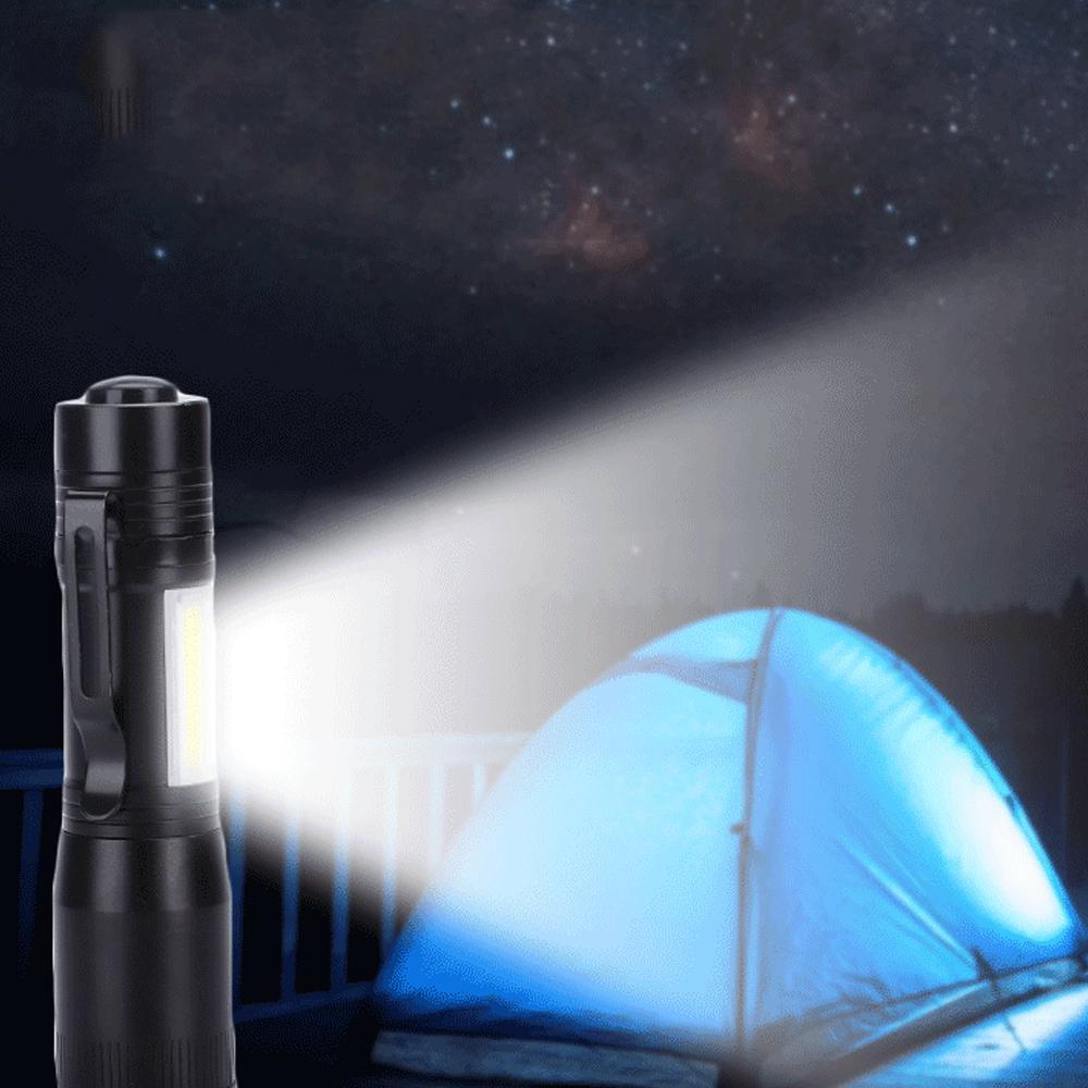 14500 batterie led taschenlampe 2000 lumen taschenlampe tägliche wasserdichte cree q5 cob led taschenlampe lampe penlight mit clip für camping beleuchtung