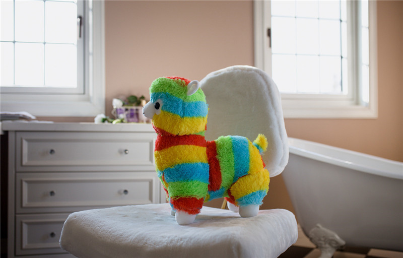 20cm Cute Rainbow Llama Alpacasso Stuffed Doll Kawaii Animal Alpaca Soft Plush Toys for Kids Christmas Birthday Gifts