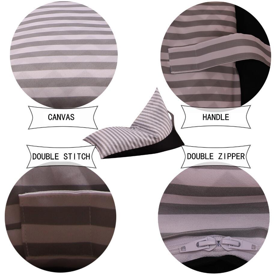 9 Stilleri Rhombus Oturma Sandalye Fasulye Torbaları Şerit Saklama Çantası Çocuk Dolması Giyim Saklama Çantası Peluş Oyuncak Organizatör çocuk Koltuğu FFA967 12 ADET